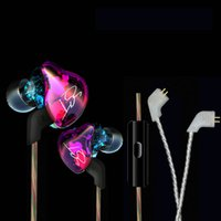balance cables - Original KZ ZST Colorful In Ear Earphone Hybrid Headsets Noise Cancelling Balanced Armature Dynamic Earbuds With Mic Replaced Cable