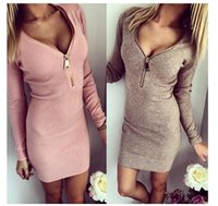 Cheap Casual Dresses Slim Dresses Best Bodycon Dresses Autumn Knitted Dress
