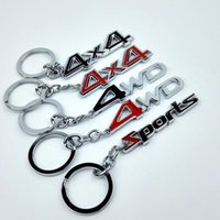 Compre 4x4 accessories toyota-1PC Universal Car-styling Metal Key Ring 4X4 4WD Sports Keychain para Toyota Jeep Ford foco 2 Acessórios Key Holder
