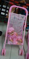 baby doll pram - Lovely Kids Dolls Buggy Stroller Pushchair Pram Foldable Girls Doll Pram Toy With Baby Doll