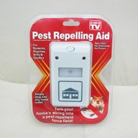 Wholesale 500pcs DIGITAL PEST INSECT REPELLENT ULTRASONIC REPELLER RODENT CONTROL REJECT fast shipping