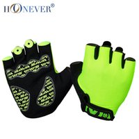 Wholesale Summer Half Finger Cycling Gloves Breathable Shockproof Non slip Gloves For Bicycle Guantes Ciclismo Men Women Bike Glove