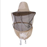 bee protective clothing - Beekeeping Hat Face Protector Bee Protective Cap Insect Fishing Mesh Mask Net Fishermen Clothing New Hot