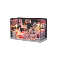Wholesale DIY DollHouse Model Kit Romantic Dream Princess Home With LED Light Hand Development Kids Toy Room Decoration