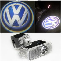 Wholesale 2 x LED Warning Light Projector Gate with VW badge for Volkswagen VW Passat B5 b5