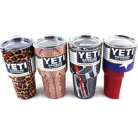 beer tree - YETI Rambler Tumbler Cup Flag Skull Leopard Tree pattern Stainless Steel Oz Yeti Cups Cooler Vehicle Beer Mug Bilayer Vacuum Insulated