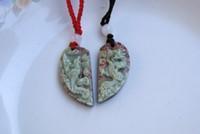 al por mayor nudo collar de jade-Jade púrpura natural. Nudo Sabrina colgante collar de talismán (suerte)