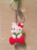 Wholesale PVC silicone keychain Keyring Key Ring car pendant doll gift for men and women student key rings