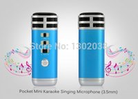 Wholesale Mini Pocket Microphone KTV Karaoke Player Portable for iPhone iPad PC MP3 MP4 MP5