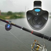 Fish Bite Alarm Plastic 3 x LR44/AG13 button cell Electronic Fishing Rod LED Light Bell Clip Fish Bite Alarm Tool with Sound-light Alarm Device FHG_009