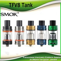 Wholesale Original SMOK TFV8 Cloud Beast Tank ml with V8 T8 Octuple V8 Q4 Quadruple Coil Head genuine Smoktech TFV8 glod Blue Green Tank