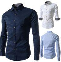 Wholesale Best Shirt For Man Casual Long Sleeve Single Breatsed Turn Down Collar Plaid Fashion Mens Dress Shirt For Men