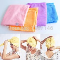 Wholesale Magic Twist Hair Dryer Quick Drying Towel Salon Wrap Turban Cap Hat New A1148 RQUZ pkKQC