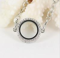 Precio de Broches para los encantos-25mm de plata de cristal círculo redondo de memoria viva Locket pulsera para los encantos flotantes corbata de langosta