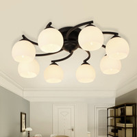 Wholesale Brief Country Style LED Pendant Lamps E27 Fashion AC V LED Pendant Lights with Metal Glass for Living Room