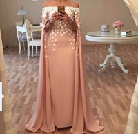 apple holiday - New Sheath Pink holiday pregnant Watteau evening dress D Floral Appliques full lace formal dress Celebrity dubai african gown qw