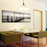 Wholesale 3 Panels HD Seascape Bridge Picture Decor Pictures Wall Art Picture Digital Art Print Canvas Printed Picture for Living Room Dropship