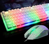 Wholesale USB wired keyboard color high keyboard glare suspension key backlight keyboard colorful colorful fashion game keyboard
