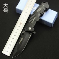 Wholesale Cold Steel Black Tactical Knife Pocket Camping Tool fast open Hunting Knife Survival Knife