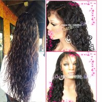 Wholesale Full Lace Human Hair Wigs For Black Women Brazilian Virgin Hair Lace Front Wigs With Baby Hair Full lace wet and wavy Wig