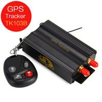 base sim card - Universal Car GPS Tracker TK103B GPS GSM GPRS Vehicle Locator Remote Control SD SIM Card Anti theft PC web based GPS system