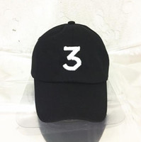 Wholesale Embroidered chance the rapper Hat Black Baseball Cap Fashion kanye west bear dad caps casquette hip hop Strapback sun drake ovo hats