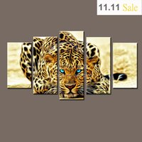 animal pictures photos - Modern Unframed Modular Paintings on Canvas Art Panel of Cheetah Leopard Piece Canvas Art Photo Wall Pictures for Living Room