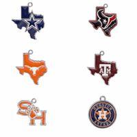 houston texans charms - Texas Jewelry Choose Your Team Enamel Texas map Cowboys Texans A amp M Aggies Longhorns Astros Sam Houston Pendant Charms