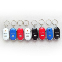 Wholesale Hot Sale High quality PC White LED Key Finder Locator Find Lost Keys Chain Keychain Whistle Sound Control
