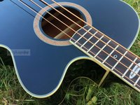 Solid acoustic bass brands - high quality black color strinber acoustic electric bass guitar with brand tuner