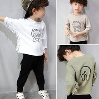bat boy t shirt - Boys T shirt children cartoon printed tassel bat sleeve T shirt baby kids cotton round collar tops spring new children clothing T0967