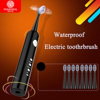Wholesale Wireless Charging Vibration Electric Toothbrush Waterproof Ultrasonic Sonic Oral Care Hygiene Rechargeable Teeth Brush By DHL