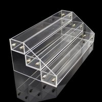 Wholesale 3 Layers Acrylic Nail Polish Display Stand Shelf Rack Makeup Organizer Boxes Cosmetics Storage Box Cosmetic Holder Organizer WA1546