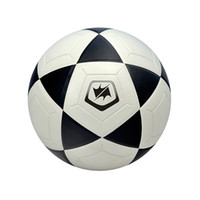Wholesale WINMAX good quantilty official size veneer mm PVC black with white trainning play soccer ball