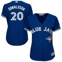 Wholesale New Women s Baseball Jerseys Blue Jays Jersey Donaldson Blue Color Cool Base Stitched Ladies Size S XXL All Jerseys On Sale