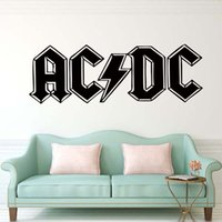 art products for kids - New Product Ac dc Large Kitchen Bedroom Removable Wall Mural Giant Art Sticker Living Room Decal Matt Vinyl Diy