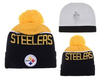 Wholesale Steelers Football Beanie Team Hat Winter Caps Popular Pittsburgh beanie Caps Skull Caps Best Quality Warm Adult Sports Caps