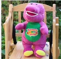 big barney doll - 1pc cm Barney The Dinosaur Big Soft Bear Doll Plush Kid Baby Toy With Music