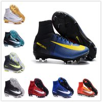 Soft Spike Unisex Spring and Fall 2017 High Quality Ankle Outdoor SoCCer CleAts SuPErfLY V Cristiano MerCURial CR7 Football Boots SuPERflys FG Ronaldo ACC 5 Turf Soccer Shoes