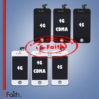 Partie de rechange de numériseur d'écran tactile d'affichage à cristaux liquides de l'Assemblée de partie pour l'iphone 4 4G 4S expédition libre de DHL