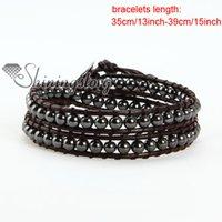 achat en gros de faire des bracelets d'amitié en cuir-Bracelets perles en vrac enveloppé bracelet en cuir bracelet en cuir bracelet bijoux d'amitié bracelets faits main bracelets semi précieux