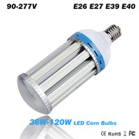 Wholesale DHL fast shipping LED Corn Light Bulb W W W W E26 E27 E39 E40 High Bay Garden Warehouse parking lighting
