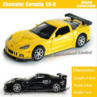big scale model - 1 Scale Diecast Alloy Metal Car Model For Chevrolet Corvette C6 R Collection Model Pull Back Toys Car Black Yellow Red White
