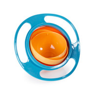 Wholesale DHL Free Feeding Baby Kid Food Spilling Gyro Bowl Dishes Rotate Non Spill Bowl Dish Avoid Food Spill