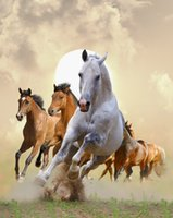 antique horse paintings - Full Diamond Painting of DIY Digital Horse Picture Without Frame Cross Stitch Diamond Artwork with Resin Square Diamond for Home A1381
