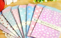 Wholesale New Cute lovely fresh Paper flowers envelope For Card Scrapbooking Gift for Wedding Letter Invitations papelaria
