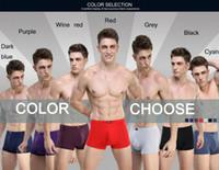 online shopping Modal Boxers Xl - HOT Sale Solid Bamboo Fiber Shorts Men Underwear Boxers Men's Boxer Modal Sexy Mens Boxer Shorts 8 Colors L-XXXL Wholesale