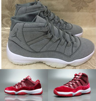 basketball door - 2017 Mens Low and High Retro Velvet Heiress Suede Wine Red Grey Basketball Shoes Out Door Sports Sneakers for Men Size US8 Euro
