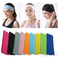 Wholesale 5000Pcs High Quality Women Lady Yoga Polyester Elastic Hairband Headband Sport Soft Fashion Hair Band Bandanas