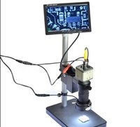 av bnc - Industrial Microscope Camera BNC AV Output TVL X quot LCD Monitor Stand Holder C Mount Lens LED Ring Right